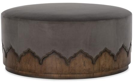 Hooker Furniture Melange 6385044885 Living Room Ottoman Gray, Silo Image