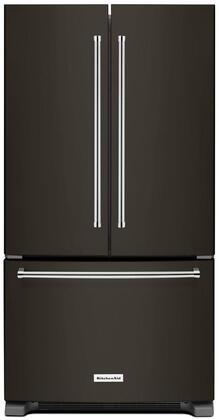 KitchenAid  KRFF305EBS French Door Refrigerator Black Stainless Steel, Main Image