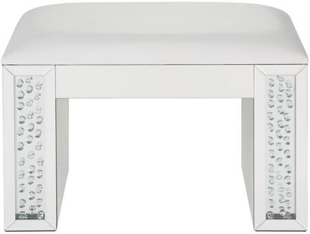 Acme Furniture Nysa 90158 Vanity Stool White, Front View