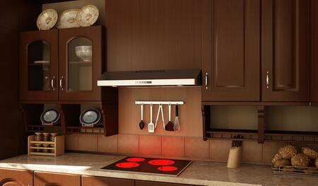 Faber  LEVA30BK300B Under Cabinet Hood Black, Main Image