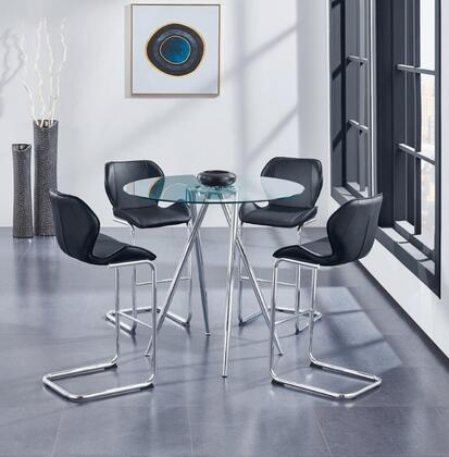 Global Furniture USA D1503 D1503BT4D1446BSBL Bar Table Set Black, Main Image
