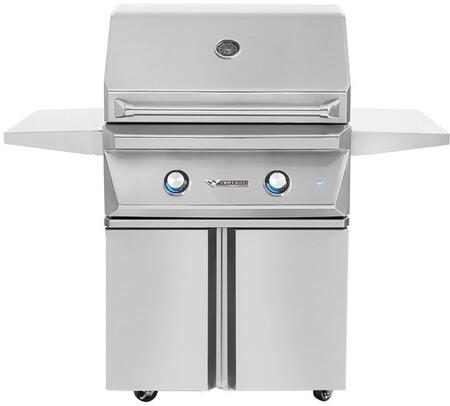 30″ Liquid Propane Freestanding Grill with Cart  2 Main Burners with 50000 Total BTU  520 sq. in. Cooking Surface Area  Hexagonal Grates  Zone
