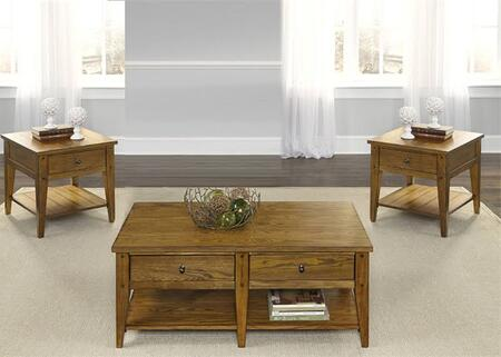 Liberty Furniture Lake House 110OT3PCS Living Room Table Set Brown, Main Image