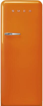 FAB28UROR3 24″ 50's Retro Style Refrigerator with 9.92 cu. ft. Total Capacity  LED Lighting  Adjustable Glass Shelves and Automatic Defrost  Right