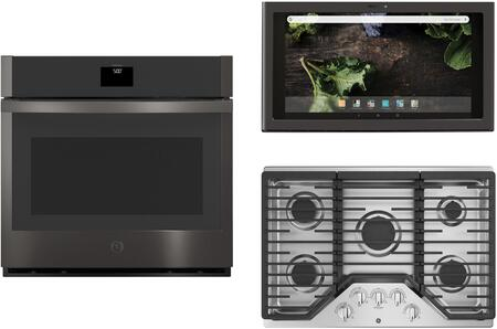 GE  1107738 Kitchen Appliance Package Black Stainless Steel, Main image