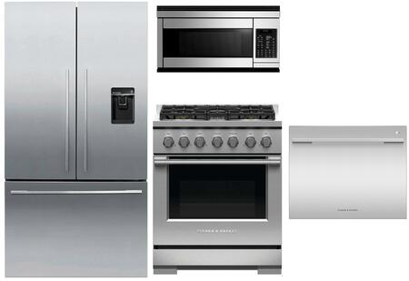 Fisher Paykel  1147310 Kitchen Appliance Package Stainless Steel, Main Image