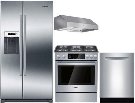 Bosch  902494 Kitchen Appliance Package Stainless Steel, main image