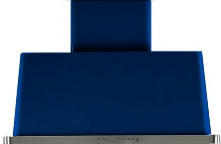 Ilve Majestic UAM100BL Wall Mount Range Hood Blue, Midnight Blue Hood