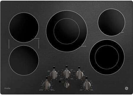 GE Profile  PP7030BMTS Electric Cooktop Black Stainless Steel, Main Image