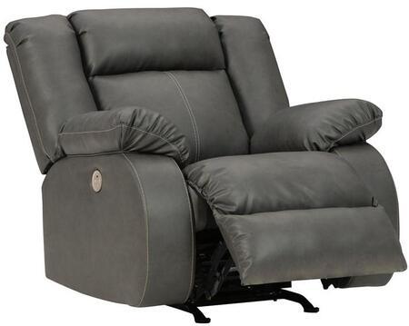 Signature Design by Ashley Denoron 5350498 Recliner Chair Gray, Main Image