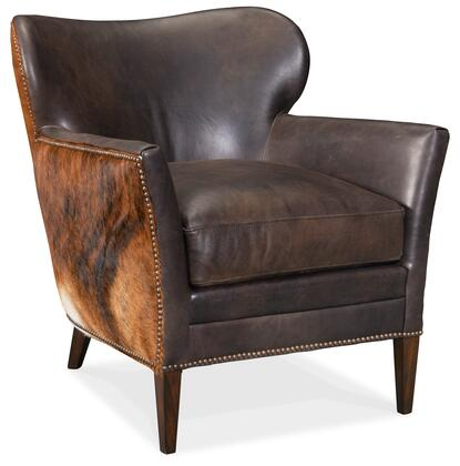 Hooker Furniture CC Series CC469089 Living Room Chair Brown, Silo Image