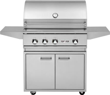 DHBQ32G-DN 32″ Freestanding Natural Gas Grill with Stainless Three Steel U-Burners  525 sq. in. Grilling Space  Warming Rack and LED Control Panel