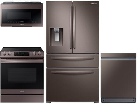 Samsung  1050141 Kitchen Appliance Package Tuscan Stainless Steel, Main Image