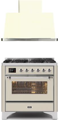 Ilve  1264539 Kitchen Appliance Package Antique White, Main image