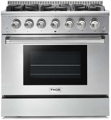 Thor Kitchen HRG3618U Freestanding Gas Range Stainless Steel, Main Image