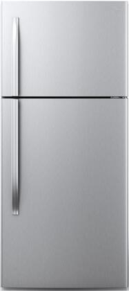 Midea  WHD663FWESS1 Top Freezer Refrigerator Stainless Steel, Main Image