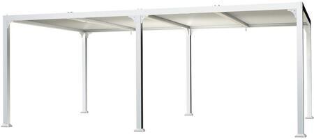 PRH4-1220WT Novara 12×20 Pergola with Louvered Canopy –