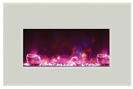 Amantii Insert INSERT304026WHTGLS Fireplace Insert White, 1