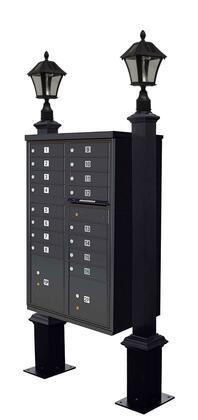 Qualarc Westhaven WDPSTSLCBUBLK Mailbox Accessories, WDPST SL CBU BLK