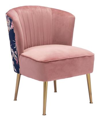Zuo Tina 101870 Accent Chair Pink, 101870 1