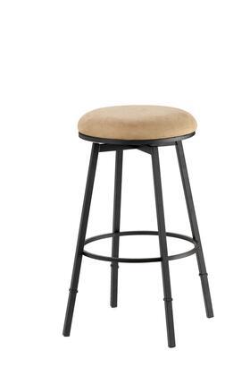 4149-831 Sanders 24-30 Adjustable Fabric Upholstered Backless Bar Stool with Metal Frame in Matte