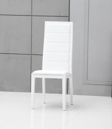 VIG Furniture Donna VGGU9007CHWHT Dining Room Chair White, Main Image