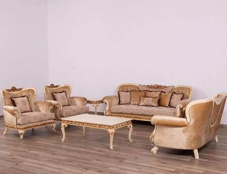 European Furniture Fantasia 40017SLC Living Room Set Beige, Main Image