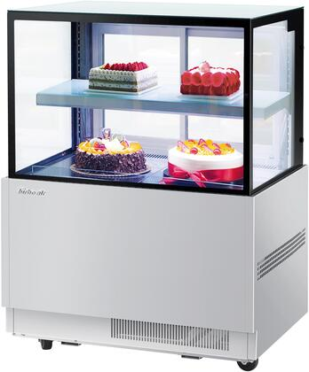 Turbo Air TBP3646NNS Display and Merchandising Refrigerator Stainless Steel, TBP3646NNS Angled View