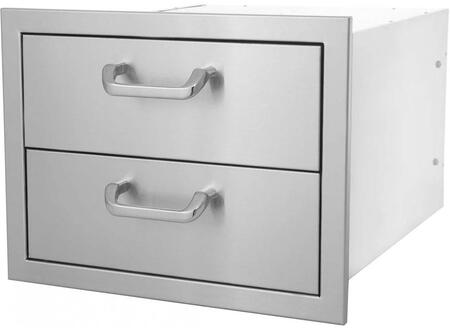HTX-DRAWER-2DR 17″ x 12.5″ Double Drawer in Stainless