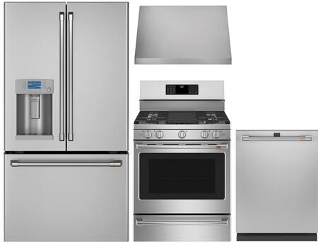 Cafe  1053457 Kitchen Appliance Package Stainless Steel, Main image
