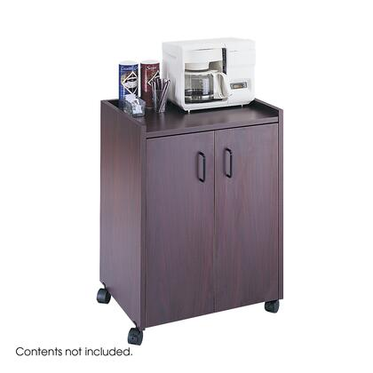 Safco 8953MH Commercial Food and Beverage Service Carts Brown, 8953MH FrontAngle 29248