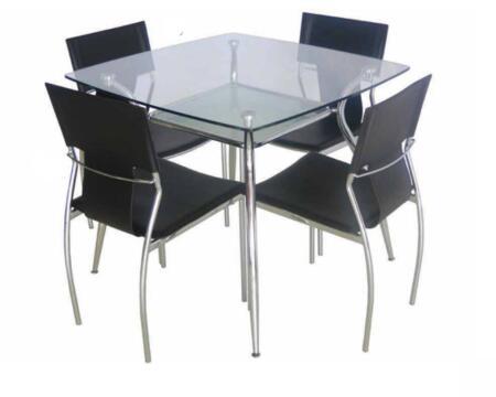 Grako Design  B003 Dining Room Table Silver, Main Image