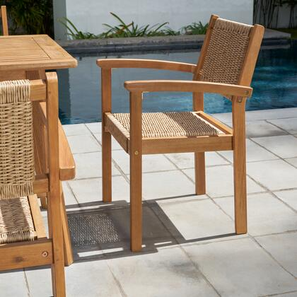 V1951 Chesapeake Set of 2 Wood Dining Chairs in Brush Finishing/ Light