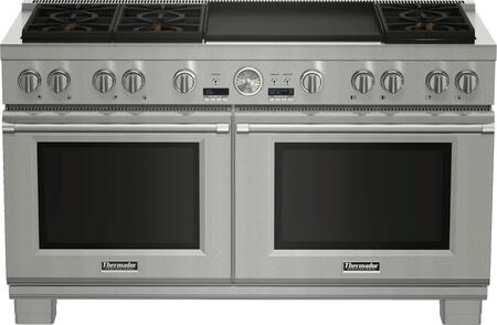 Thermador Pro Grand PRD606REG Slide-In Dual Fuel Range Stainless Steel, PRD606REG 60-Inch Commercial Depth Dual Fuel Range