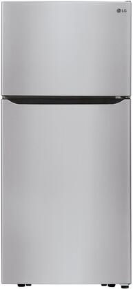 """LTCS20030S 30"""" Stainless Steel Top Freezer Refrigerator with 20.2 cu. ft. Capacity LED Lighting Factory Installed Ice Maker and Reversible"""