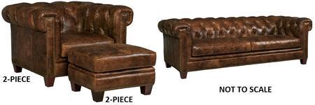 Hooker Furniture Malawi SS19503087KIT2 Living Room Set Brown, Malawi Tonga Sofa, 2 Piece Chairs and 2 Piece Ottomans