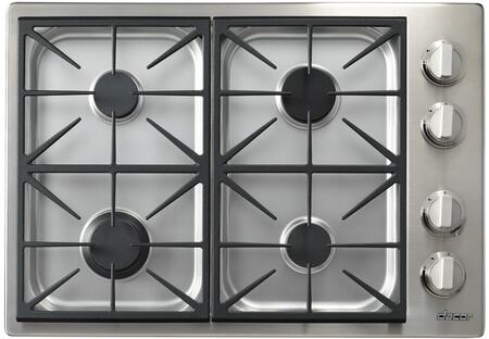 """Dacor Heritage HPCT304GSNGH Gas Cooktop Stainless Steel, HPCT304GSNGH 30"""" Heritage Series Professional High Altitude Natural Gas Cooktop"""