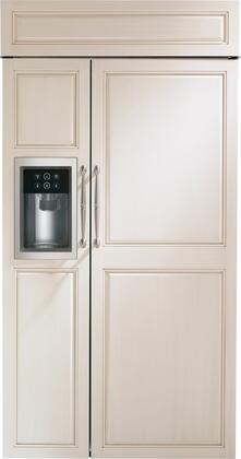 "Monogram  ZISB420DK Side-By-Side Refrigerator Panel Ready, ZISB420DK 42"" Built-In Side-by-Side Refrigerator with Dispenser"