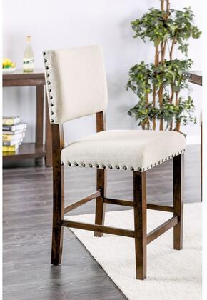 Furniture of America Glenbrook CM3018PC2PK Bar Stool White, Main Image