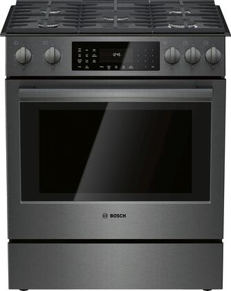 HGI8046UC 30″ 800 Series Slide In Gas Range with 5 Sealed Burners  4.8 cu. ft. Oven Capacity  Convection  Self-Cleaning Mode  Warming Drawer  Self