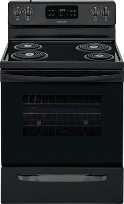 Frigidaire FFEF3016UB Freestanding Electric Range Black, Main image