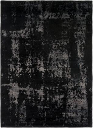 Amadeo ADO-1002 5'3″ x 7'3″ Rectangle Modern Rugs in Black  Light