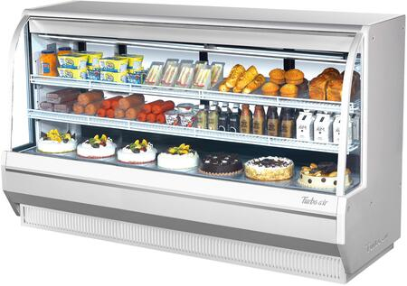 Turbo Air TCDD96HWN Display and Merchandising Refrigerator White, TCDD96HWN Angled View