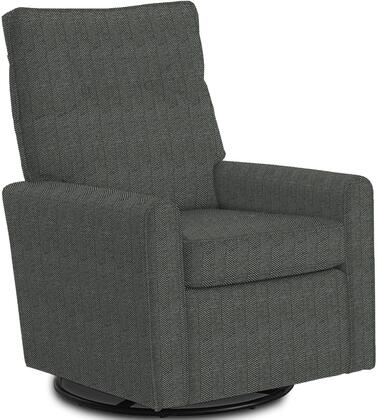 Phylicia Collection 4007-21783C Recliner with 360-Degrees Swivel Glider Metal Base  Removable Back  High Backrest  Zipper Access and Fabric