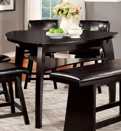 Furniture of America Hurley CM3433PT Dining Room Table Black, main image