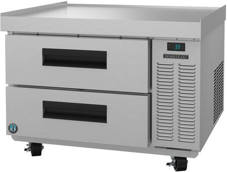 CR36A 36″ Single Section Refrigerator Chef Base Prep Table with 2 Drawers  Stainless Steel Construction  and 4″ Casters  in Stainless