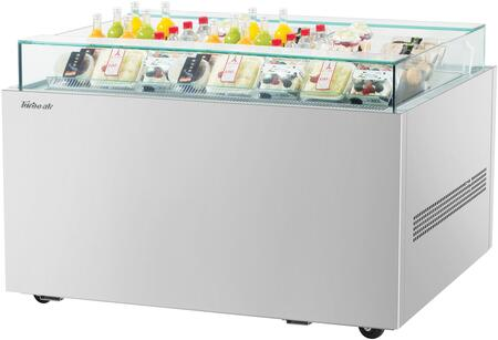 Turbo Air TOS40NNS Display and Merchandising Refrigerator Stainless Steel, TOS40NNS Angled View