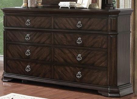 Furniture of America Calliope CM7751D Dresser Brown, CM7751D