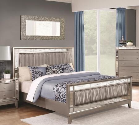 Coaster Leighton 204921KE Bed Gray, Bed