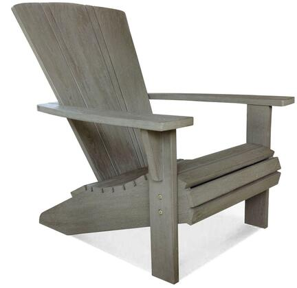 Nantucket Adirondack Collection DN-1561WT Chair with Teak Construction  Stainless Steel and Brass Hardware  Mortise and Tenon Joinery in